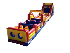 Check out the Parties N' Motion inflatable obstacle course.