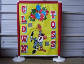 Clown Toss is available through our parties games rentals.