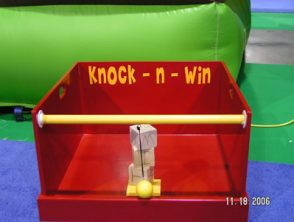 Knock N Win is available to rent through our party game rentals.