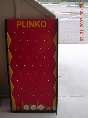 Plinko is available to rent through our party game rentals.