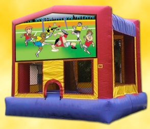 Soccer Inflatible Bounce House from Parties N Motion in St Augustine FL