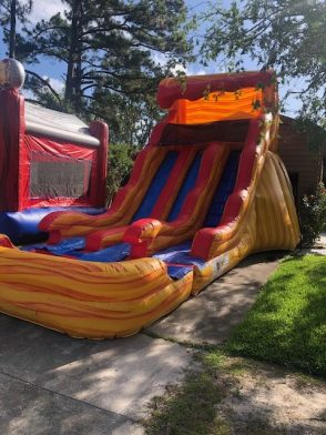 Parties N' Motion provides double inflatable water slide rentals to the Jacksonville Florida area.