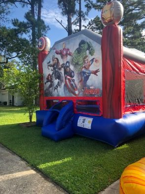 Parties N' Motion has an Avengers themed bounce house that you can rent