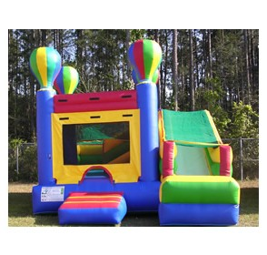 3 in 1 Hot Air Balloon Bounce House Slider Combo